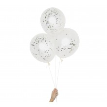 D.I.Y silber/gold Confetti Ballons