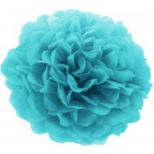 Pom Pom teal light