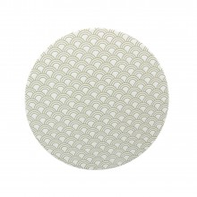 Coaster Fishcale metallic-oliv